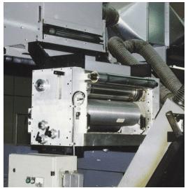 Master unit for application of flexo print