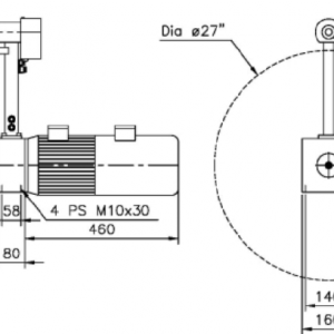re- and unwinder illustration with measurements