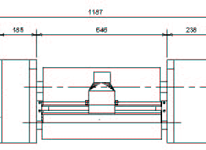 Cutting unit CAD drawing – front view