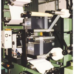 rewinder and unwinder units installed in a web press